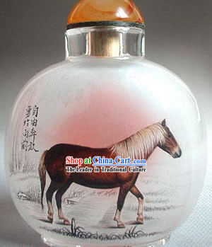 Snuff Bottles With Inside Painting Chinese Zodiac Series-Horse