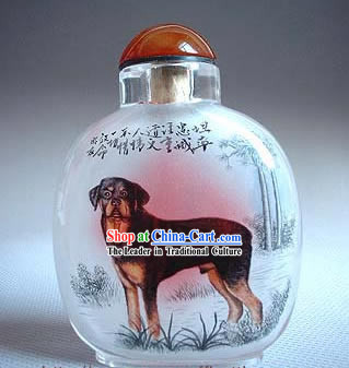 Snuff Bottles With Inside Painting Chinese Zodiac Series-Dog