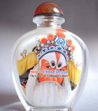 Snuff Bottles With Inside Painting Peking Opera Series-Ancient Old Man