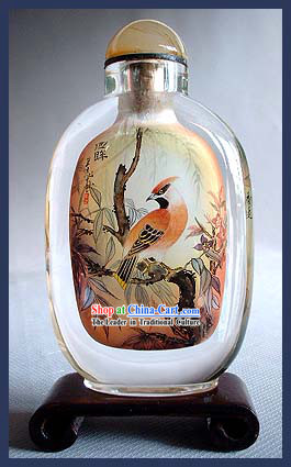 Snuff Bottles With Inside Painting Birds Series-Sunny Bird