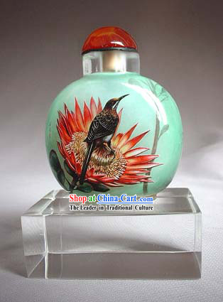 Snuff Bottles With Inside Painting Birds Series-Hummer