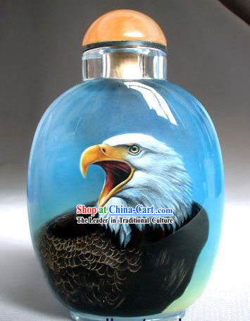 Snuff Bottles With Inside Painting Birds Series-Hawk