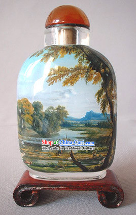 Snuff Bottles With Inside Painting Birds Series-Autumn