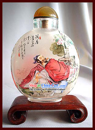 Snuff Bottles With Inside Painting Characters Series-Lotus Perfume