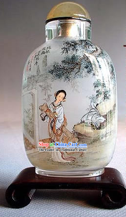 Snuff Bottles With Inside Painting Characters Series-Ancient Young Lady