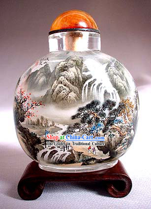Snuff Bottles With Inside Painting Landscape Series-Chinese Mountain and River