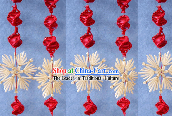 Chinese Hand Made Folk Wheat Stalk Curtain