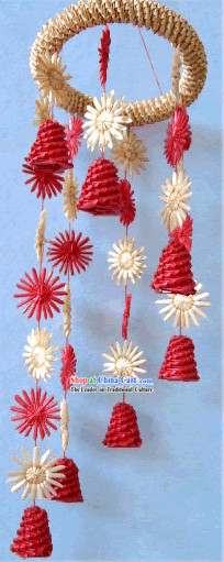 China Hand Made Wheat Stalk Windbell-Stars All Around