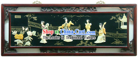 Chinese Palace Hanging Lacquer Ware Mirror Series-Music and Beauties