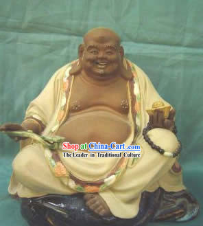 Chinese Porcelain Figurine/Statue from Shi Wan-Lucky Monk