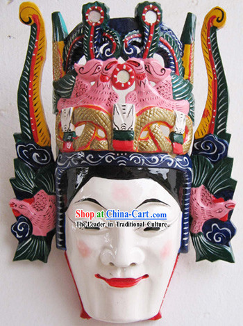 Chinese Classic Woodcarving Collectible-Ancient Folk Drama Man Mask