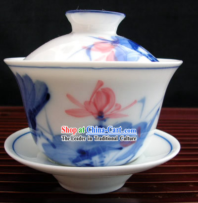 China Jingde Porcelain-Lotus Tea Bowl