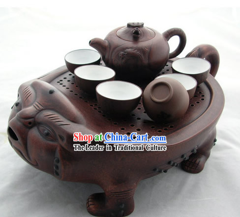 China Dragon Head Fish Body Beast Plate Kungfu Tea Set