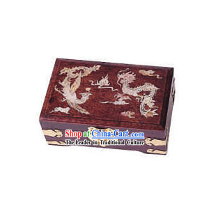 Chinese Chopsticks Box and Jewel Caskets-Dragon and Phoenix Bless