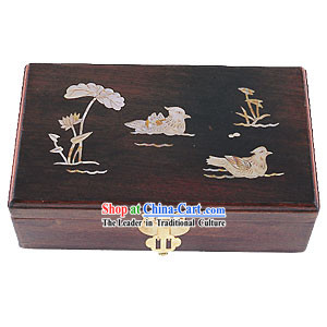Chinese Chopsticks Box and Jewel Caskets-Mandarin Ducks Love