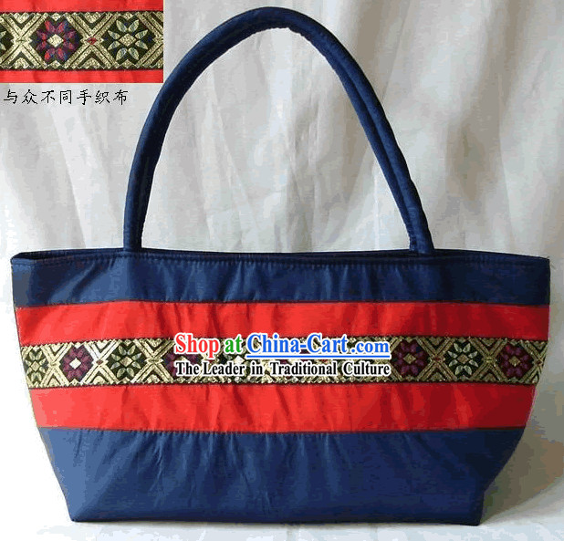 Chinese Folk Hand Weaving Satchel