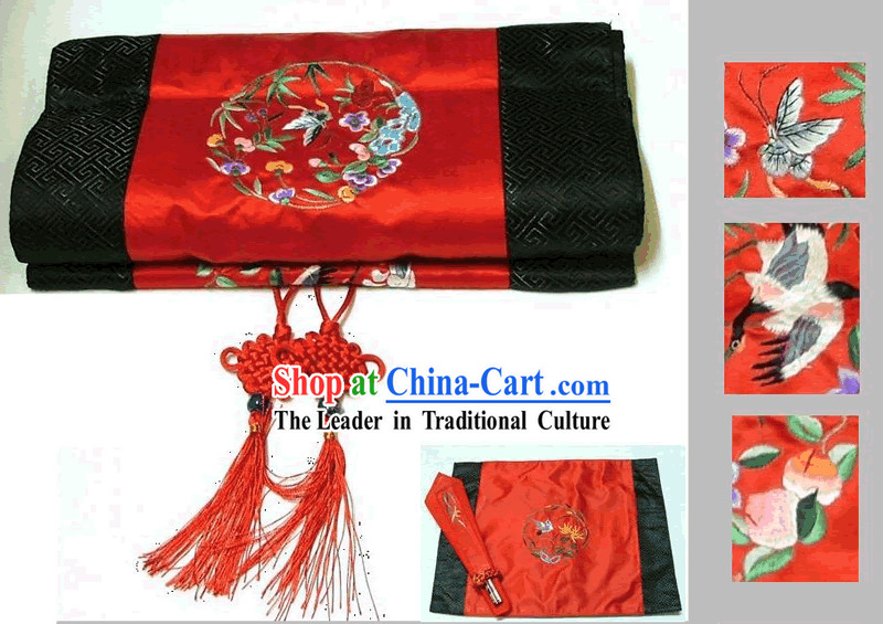 Chinese Traditional Handmade Embroidery Table Runner