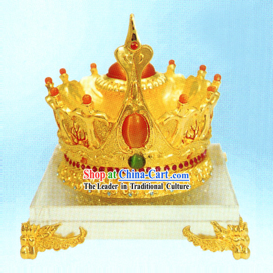 China Stunning Gold King Crown