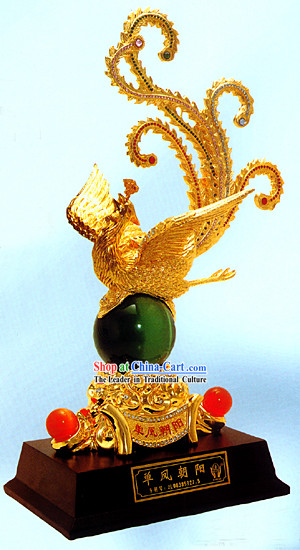 Chinese Classic Large Gold Phoenix Queen