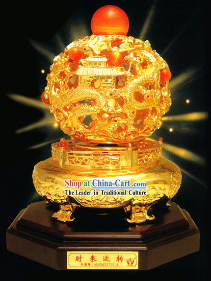 Chinese Classic Gold Dragons Lucky and Wealthy Ball