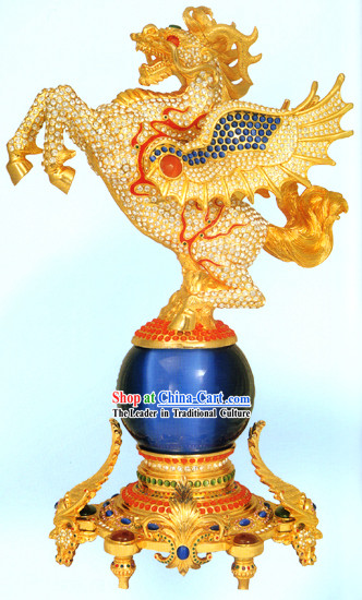 Chinese Gold Diamonds Horse of God