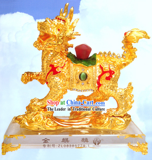 Chinese Classic Lucky Gold Kylin(Qi Lin)