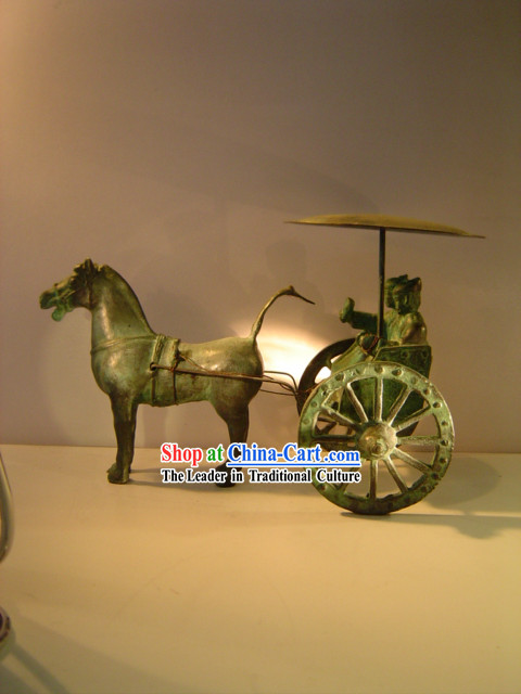 Chinese Classic Archaize Bronze Ware-War Horse