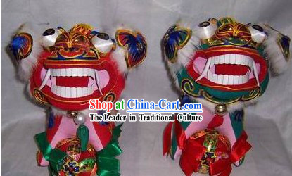 Chinese Handmade Folk Happy Lion Pair