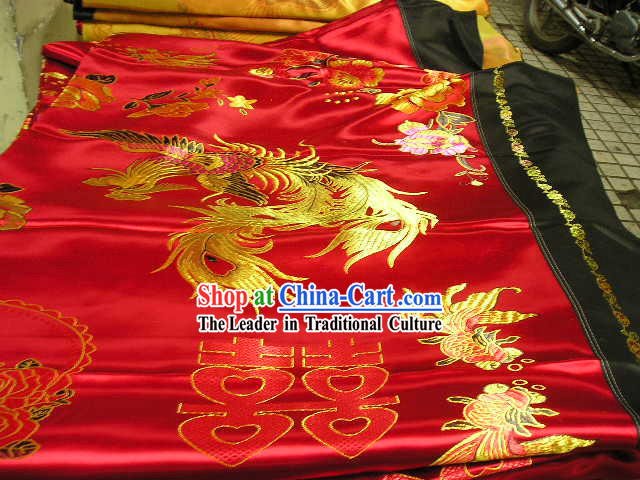 Hangzhou Silk with Double Happiness Pattern