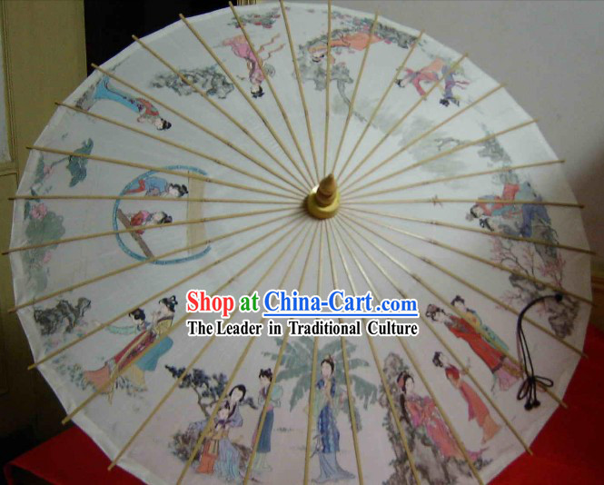 Hangzhou Classic Hand Made Ancient Story Silk Umbrella