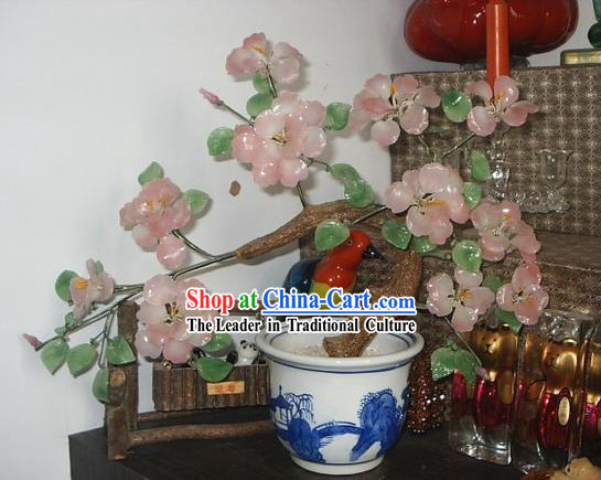 Chinese Classic Coloured Glaze Works-Pink Flowers Tree