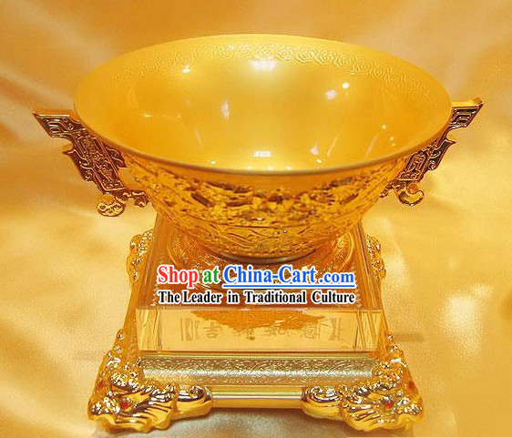 Chinese Lucky Golden Bowl Gift Package