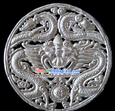 Chinese Stunning Silver Handicraft-Kylin Dancing
