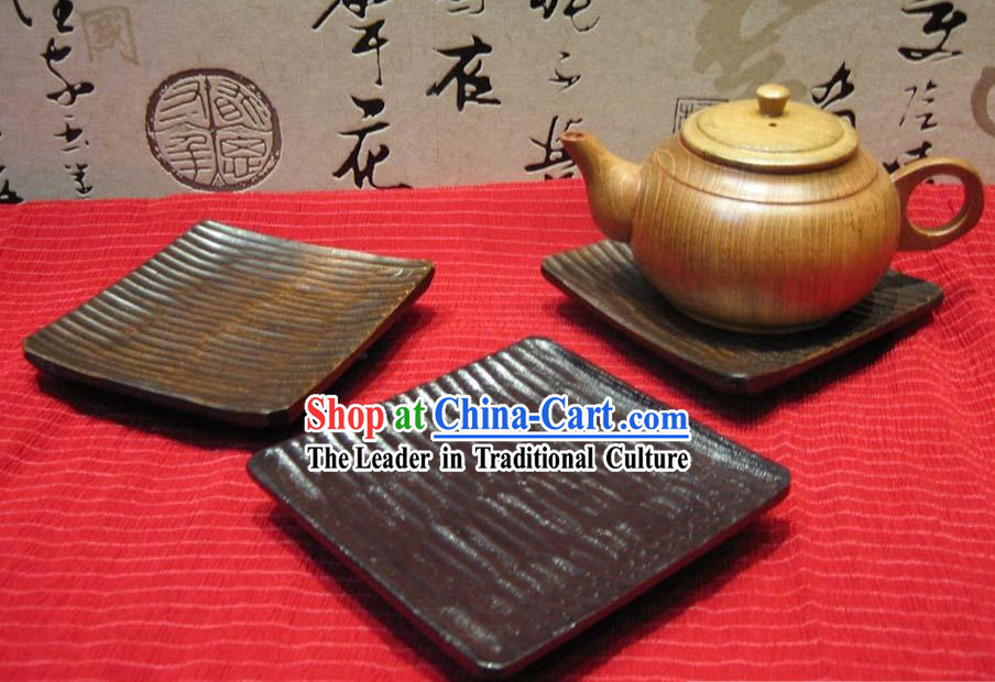 Chinese Hand Made Square Birch Wooden Tablemat