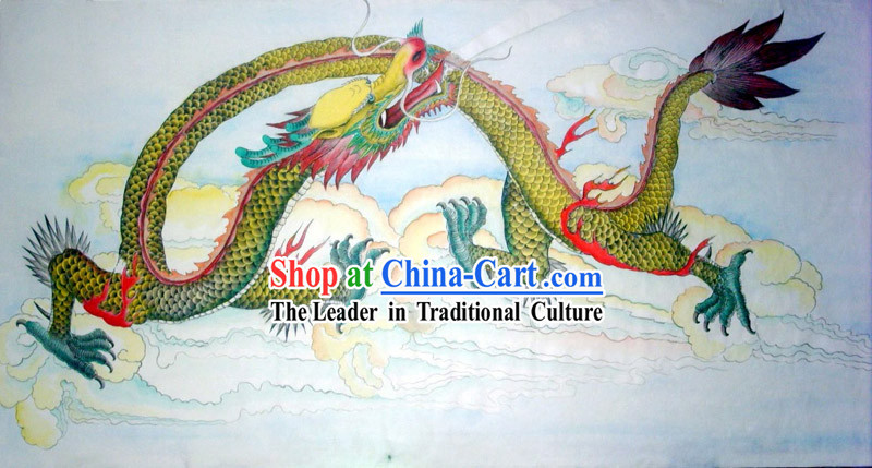 Chinese Traditional Painting with Meticulous Detail-Dragon Hero