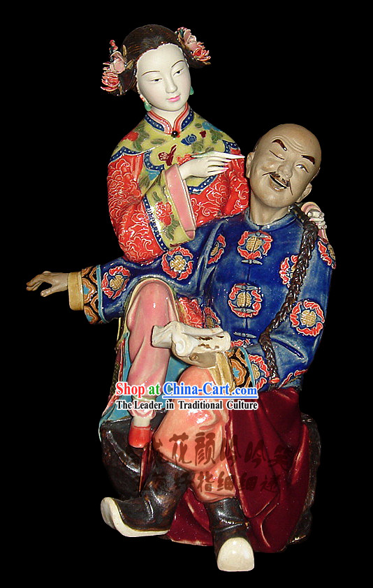 Chinese Stunning Porcelain Collectibles-Ancient Darby and Joan