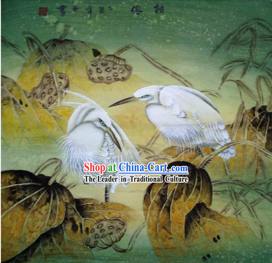 Large Traditional Chinese Painting by Li Xing-Eternal Love