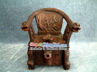 Chinese Ancient Zisha Dragon Chair Kettle_Pot_