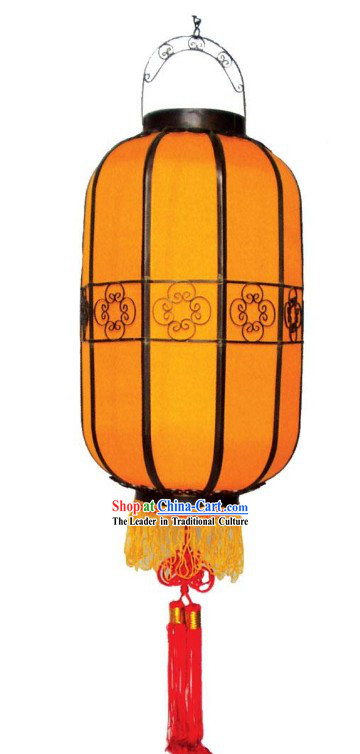 Ancient Mandarin Silk Palace Lantern (yellow)