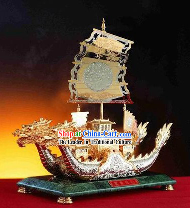 Chinese Ancient Palace Treasures Dragon Boat/Ship