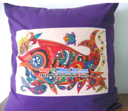 Chinese Classical Fok Cushion-Lucky Fish