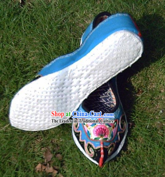 Chinese Stunning Miao Minority Handmade Made to Order Embroidery Shoes