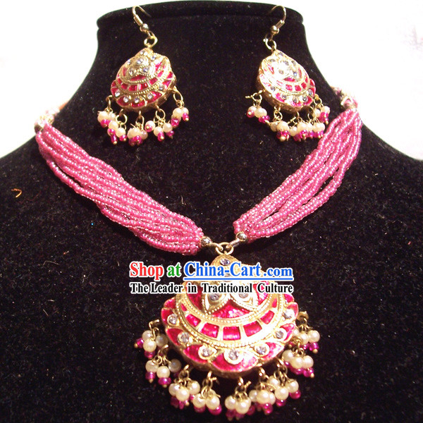 Indian Fashion Jewelry Suit-Pink Princess