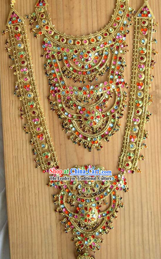 Indian Luxurious Bride Jewelry 7 Pieces Set
