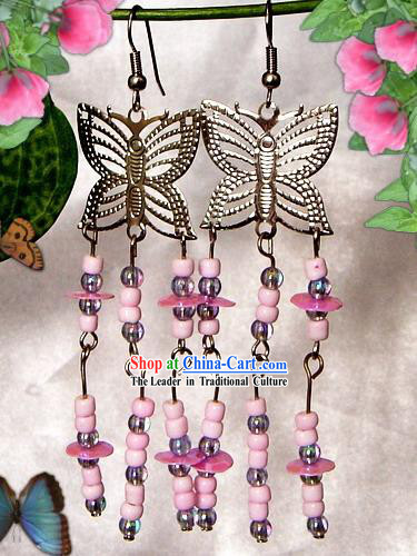 Indian Bohemia Fashion Earrings-Butterfly Charm