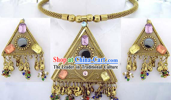 Indian 24K Handcrafted Ethnic Fully Crafted Jewellery Set