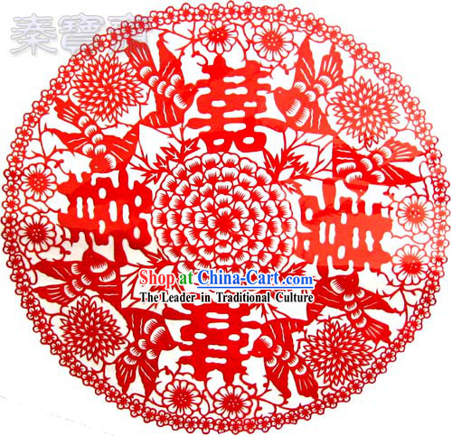 Chinese Paper Cuts-Xi Many Happy Events