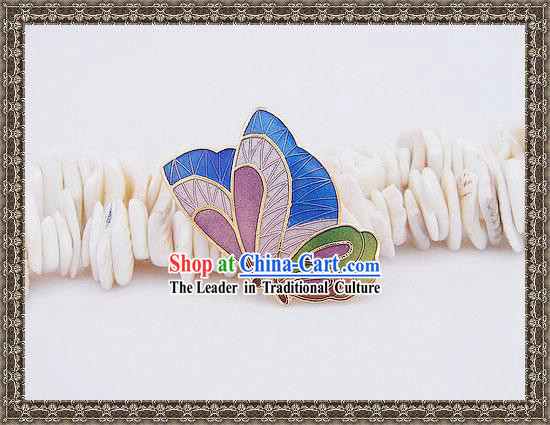 Chinese Butterfly Cloisonne Brooch
