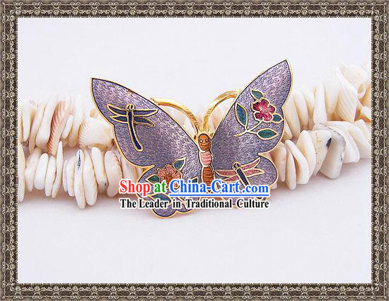 Chinese Cloisonne Brooch Classics-Butterfly