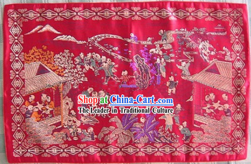 Chinese Lucky Red Pillowslip-The More Sons, The More Blessings